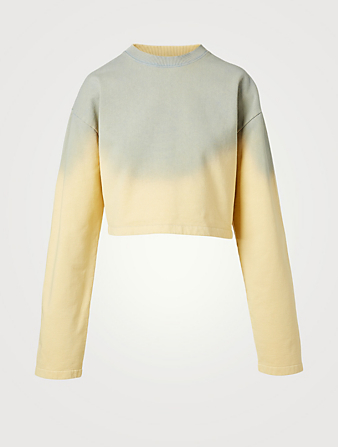 ACNE STUDIOS Sprayed Cropped Sweatshirt Women's Yellow