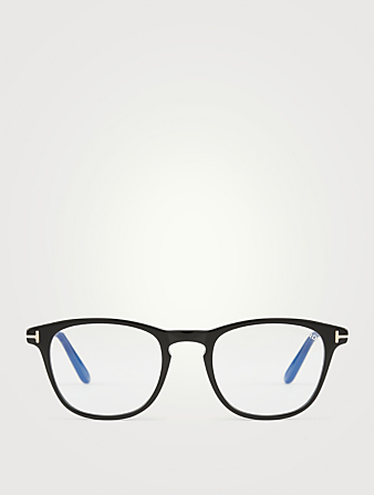 TOM FORD Square Optical Glasses With Blue Block Lenses Men's Black