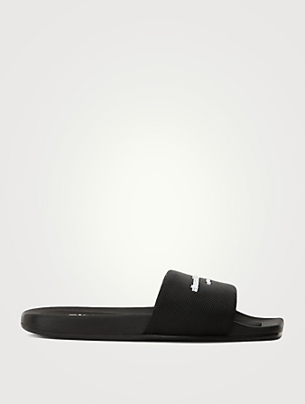 ALEXANDER WANG AW Nylon Pool Slide Sandals Women's Black