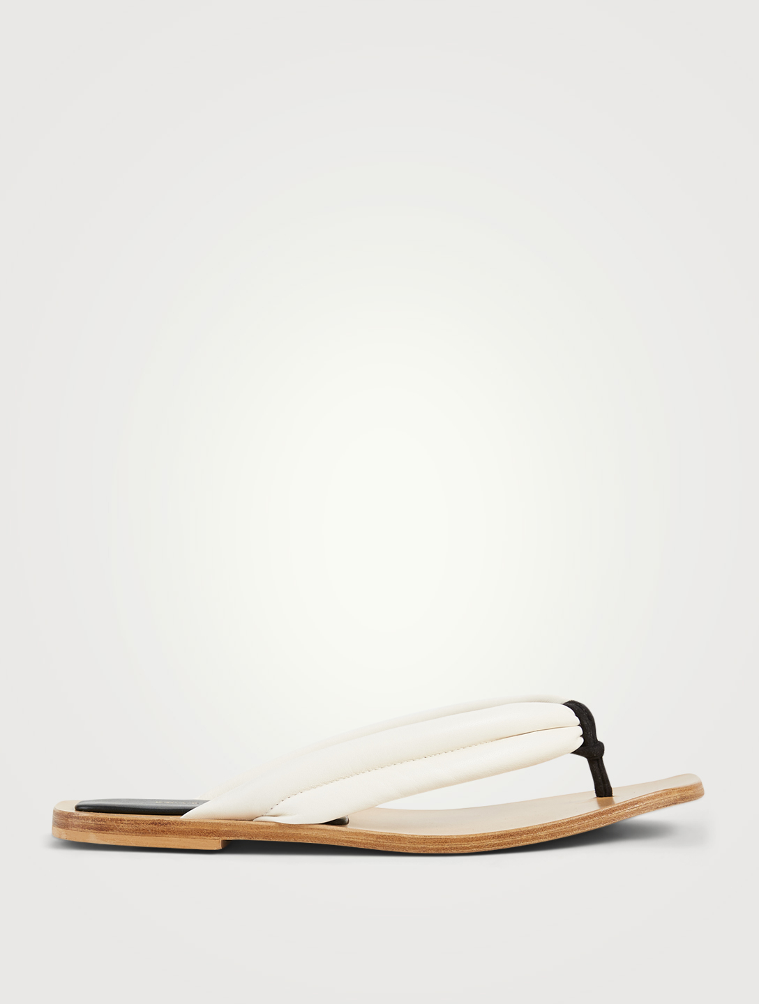 DRIES VAN NOTEN Leather Thong Sandals Women's White