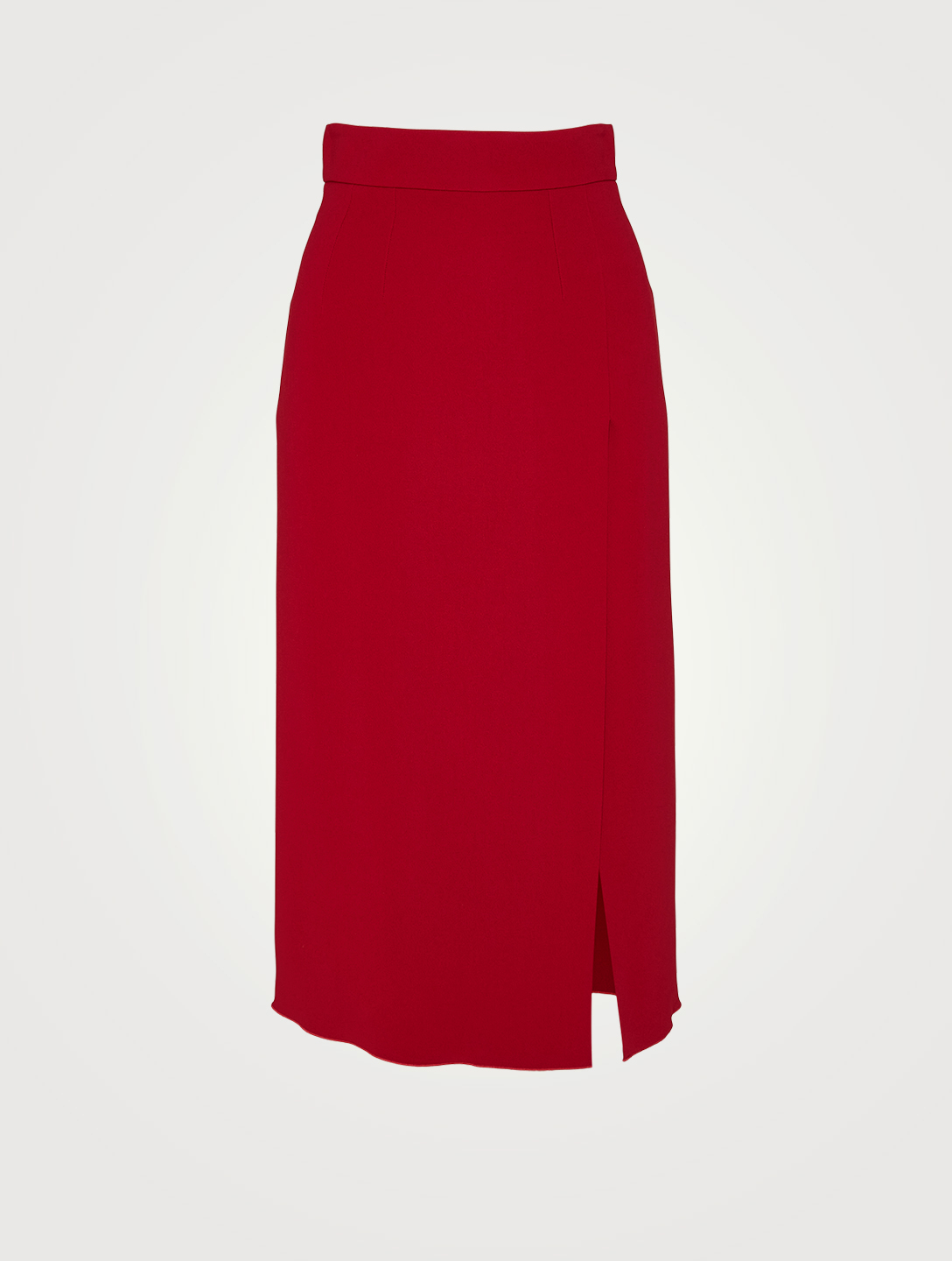 DOLCE & GABBANA Cady Midi Skirt With Side Slit Women's Red