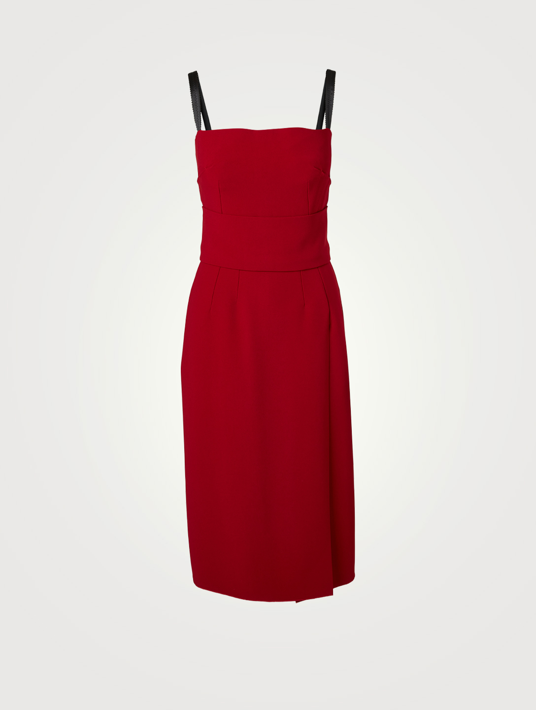 DOLCE & GABBANA Cady Midi Dress With Side Slit Women's Red