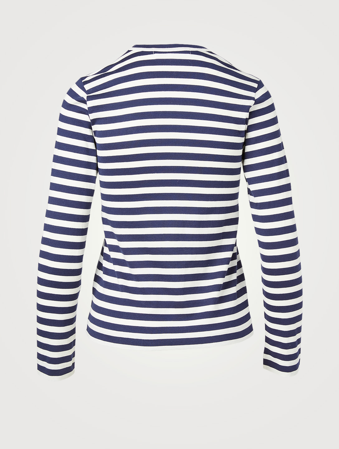 COMME DES GARÇONS PLAY Heart Long-Sleeve T-Shirt In Stripe Women's Blue