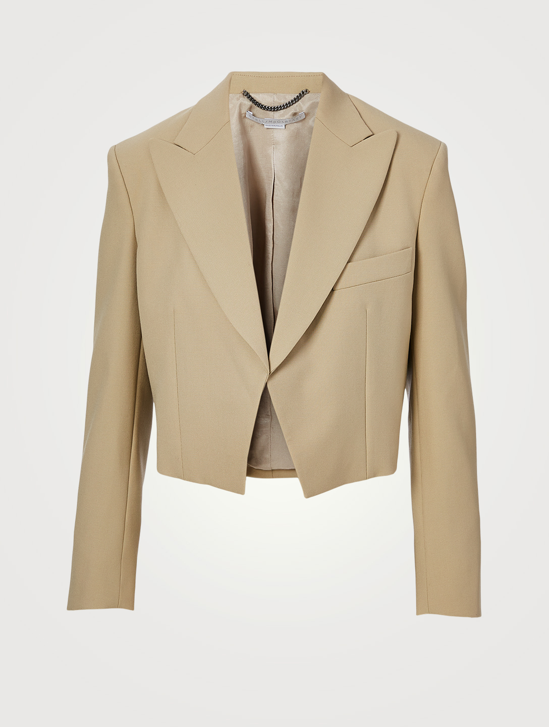 STELLA MCCARTNEY Adley Wool Cropped Blazer Women's Beige