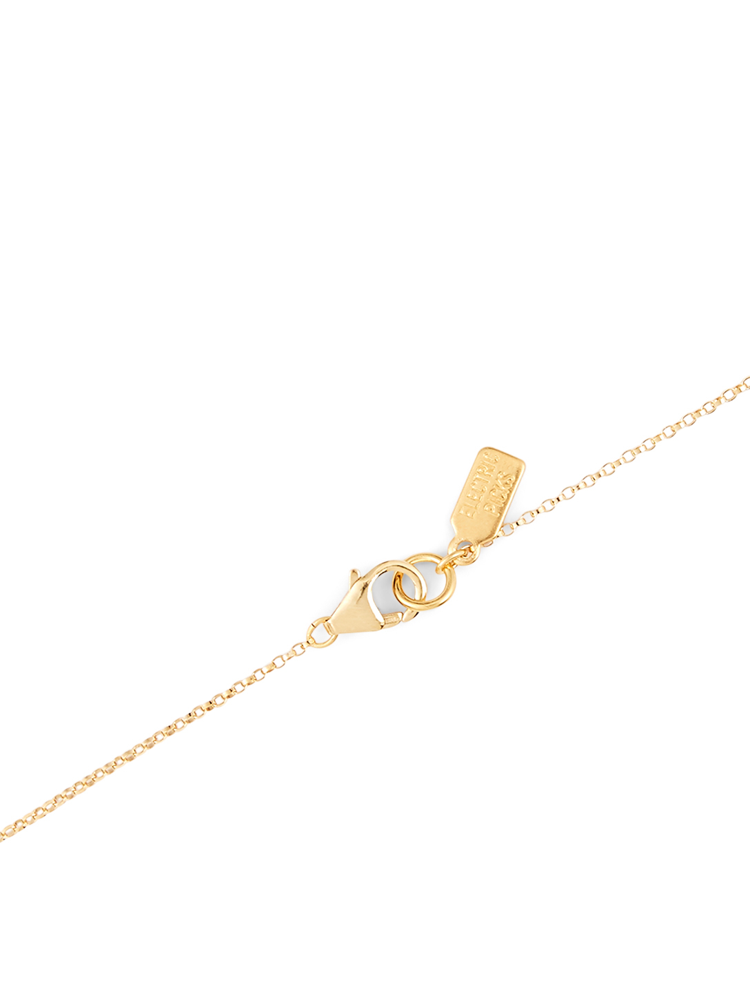 ELECTRIC PICKS Love Letter 14K Gold Filled T Necklace Women's Metallic