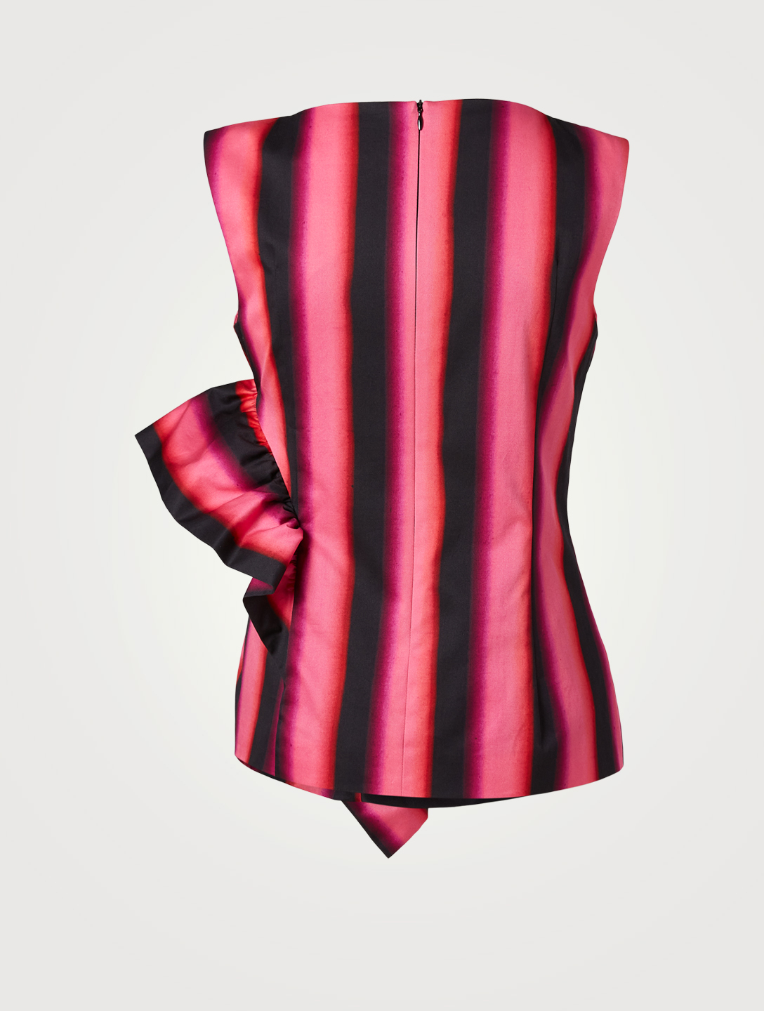 DRIES VAN NOTEN Cyvan Sleeveless Blouse In Blurred Stripe Print Women's Pink