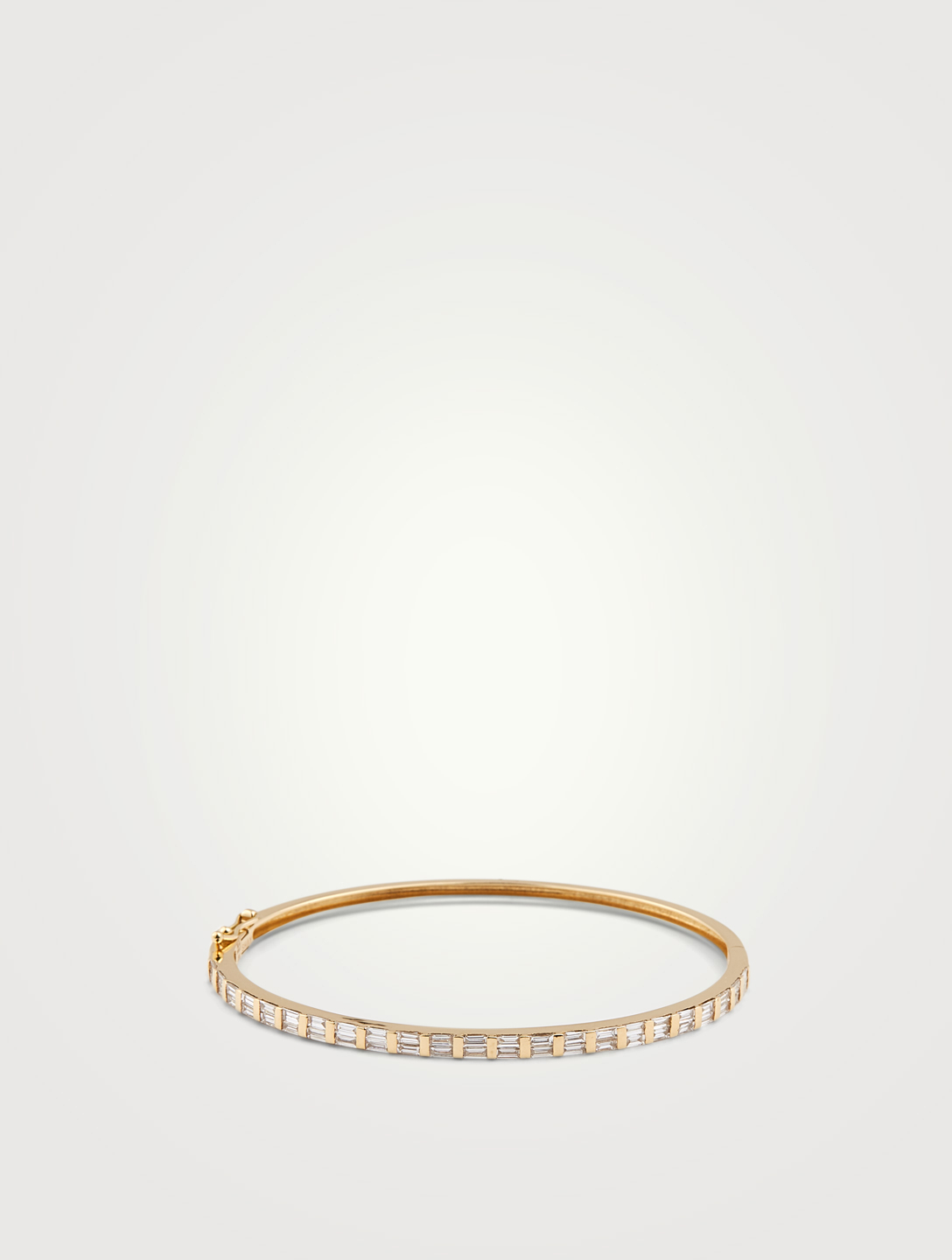 SHAY Bracelet rigide Baguette en or 18 ct serti de diamants Femmes Metallique
