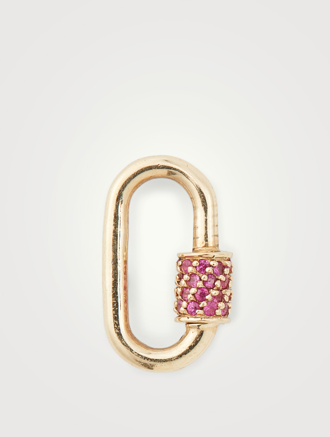MARLA AARON 14K Yellow Gold Baby Lock With Pink Sapphire Women's Metallic