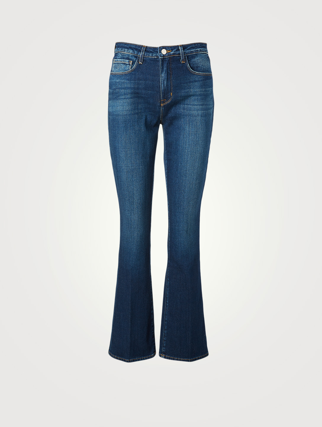 L'AGENCE Oriana Straight High-Waisted Jeans Women's Blue