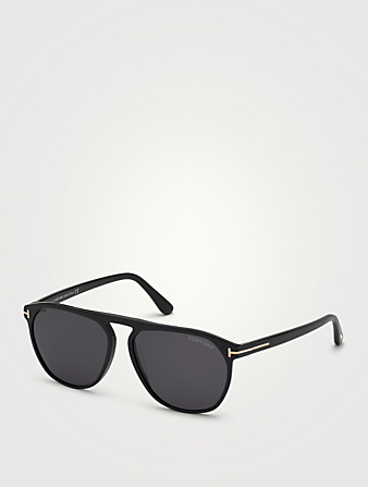 TOM FORD Jasper Aviator Sunglasses Men's Black