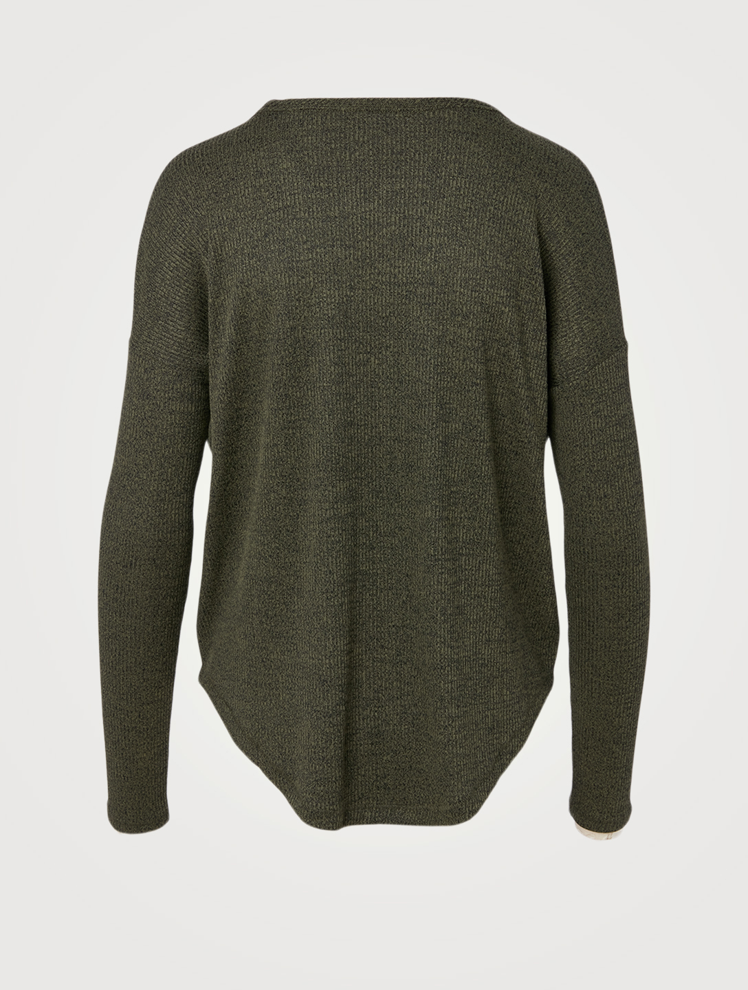 RAG & BONE Rib Knit Long-Sleeve Top Women's Green