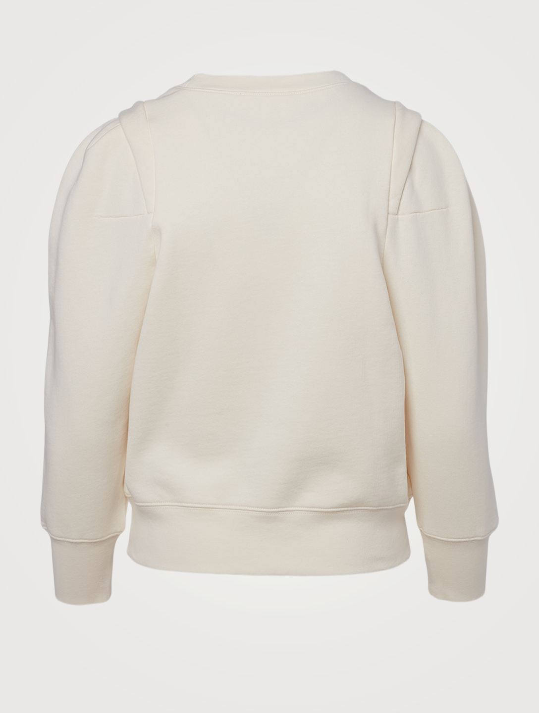 FRAME Pleated Shoulder Sweatshirt Women's White