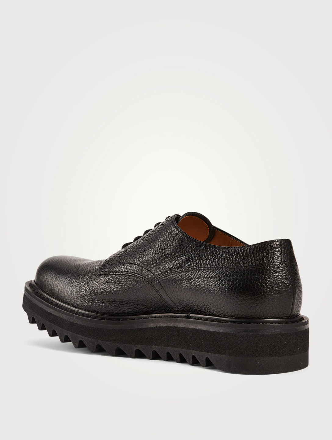 DRIES VAN NOTEN Leather Platform Derby Shoes Men's Black