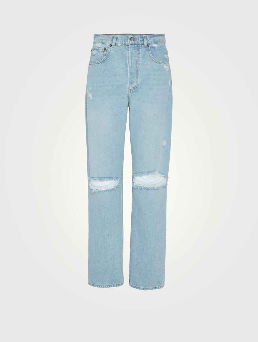 BOYISH Ziggy High-Waisted Straight-Leg Jeans Women's Blue