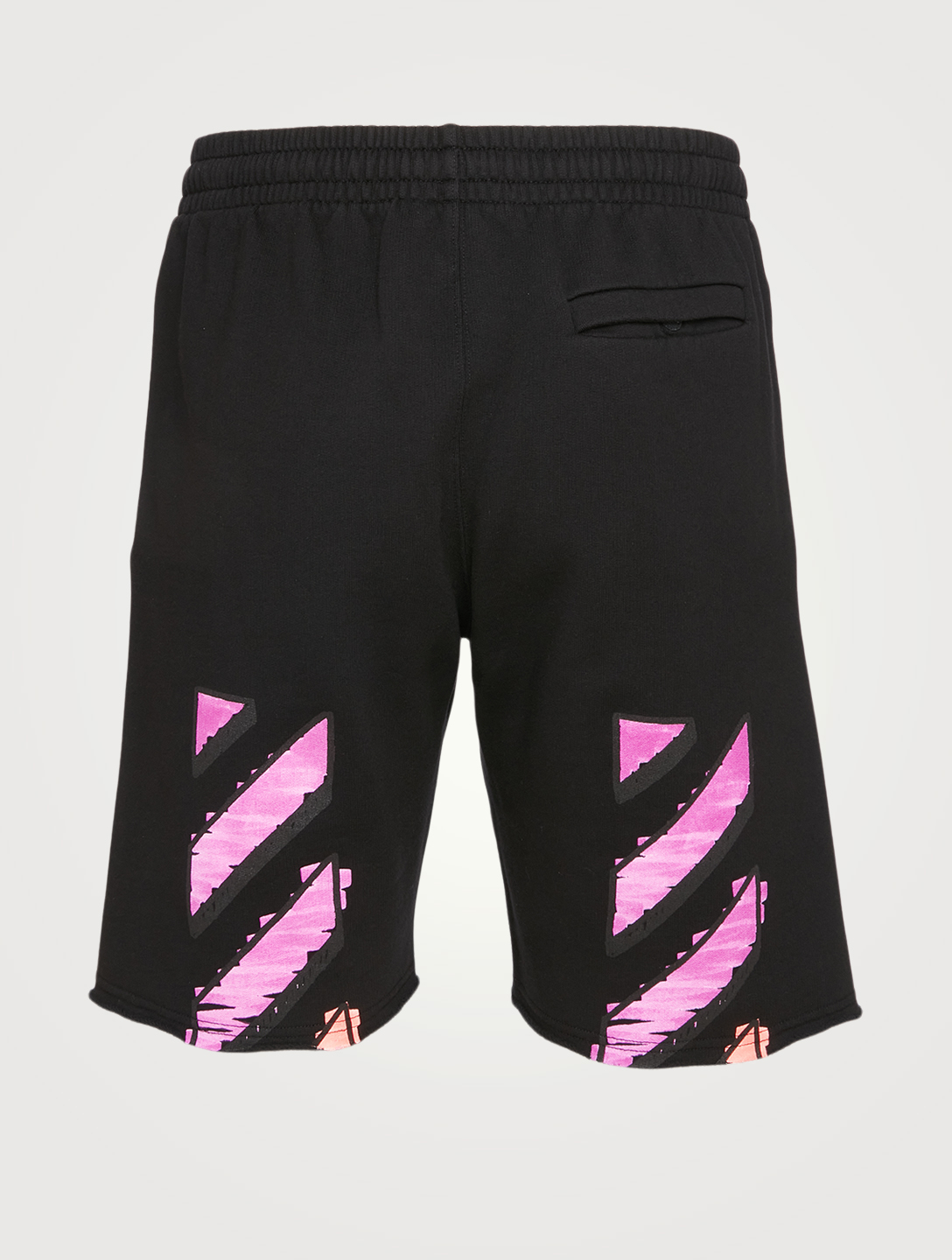 OFF-WHITE Marker Cotton Sweat Shorts Men's Black