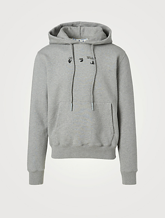 OFF-WHITE Marker Slim-Fit Hoodie Men's Grey