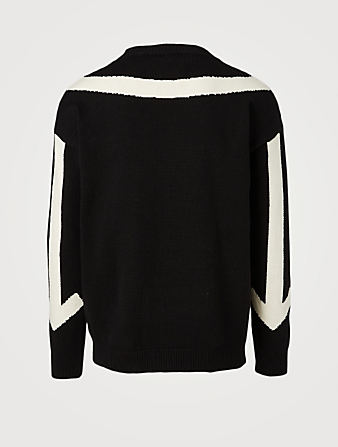 OFF-WHITE Twisted Arrows Knit Sweater Men's Multi