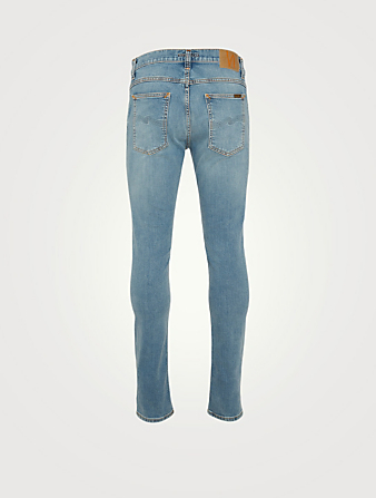 NUDIE Jean moulant Terry Hommes Bleu