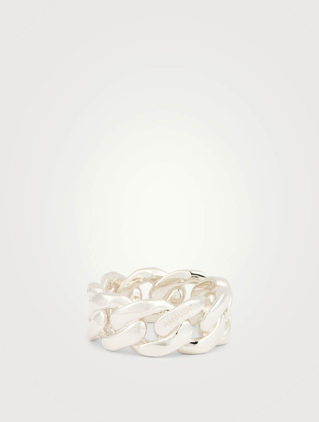 AMBUSH Sterling Silver Chain Ring 3 Women's Metallic