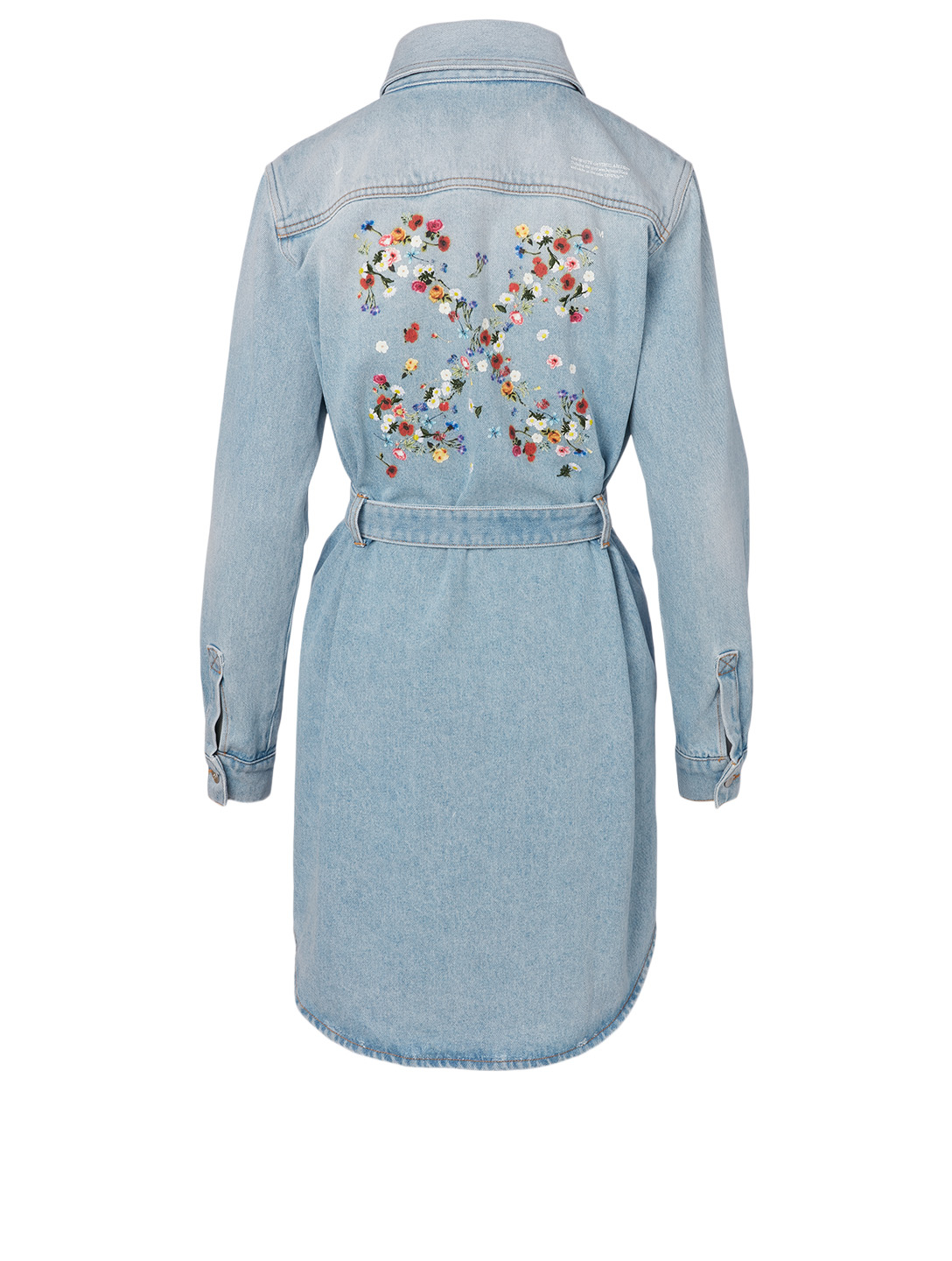 OFF-WHITE Floral Arrow Denim Mini Dress Women's Blue