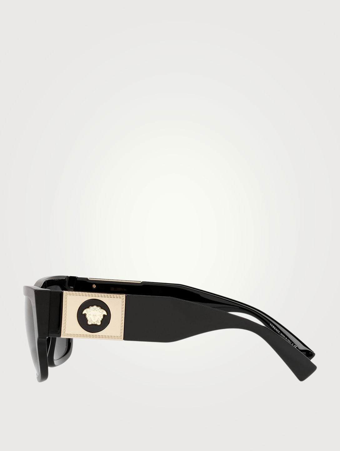 VERSACE Rectangular Sunglasses Men's Black