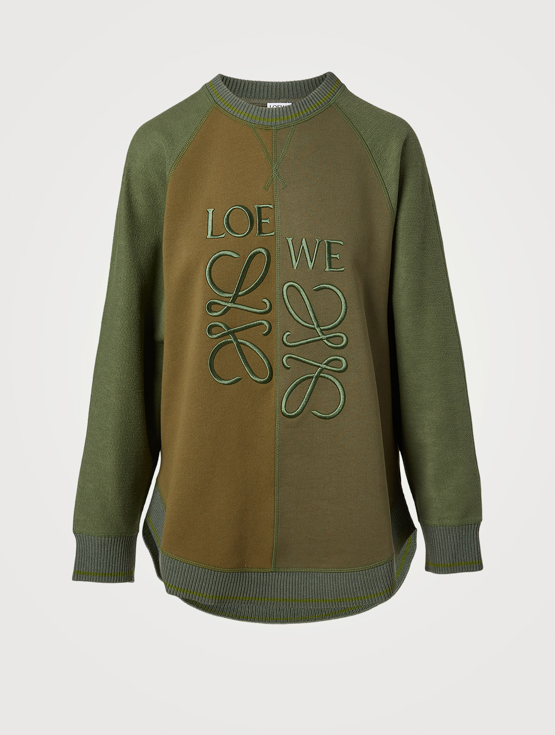 LOEWE Cotton Anagram Sweatshirt Women's Green