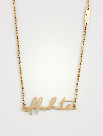 OFF-WHITE Logo Necklace Women's Metallic