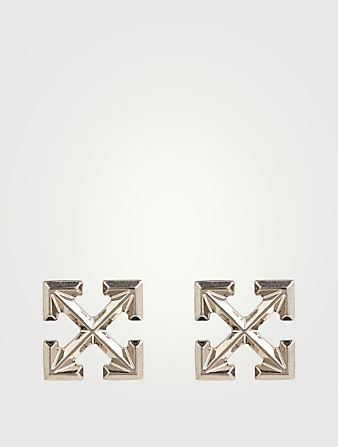 OFF-WHITE Mini Arrow Stud Earrings Women's Metallic