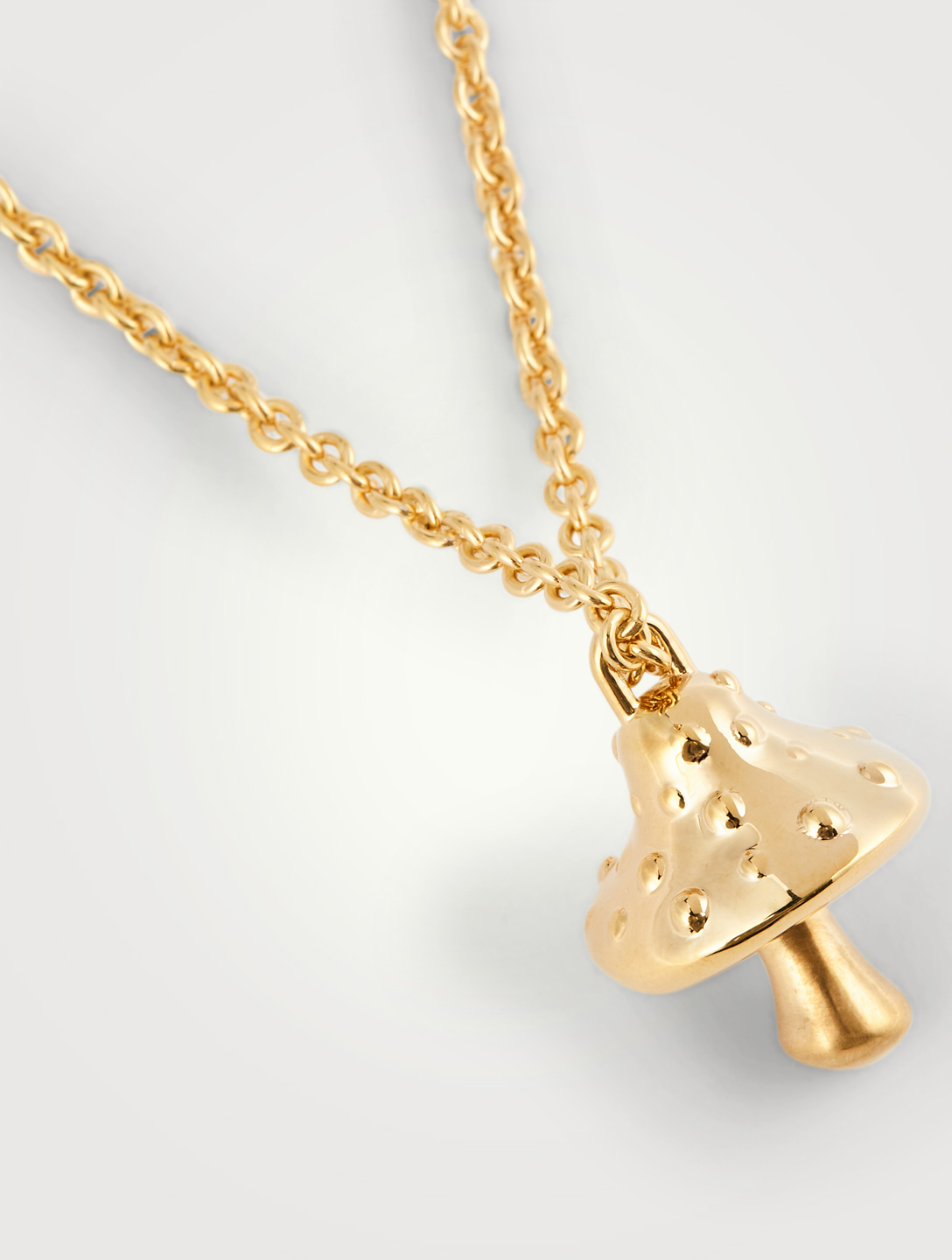 AMBUSH 18K Gold Plated Mushroom Pendant Necklace Women's Metallic