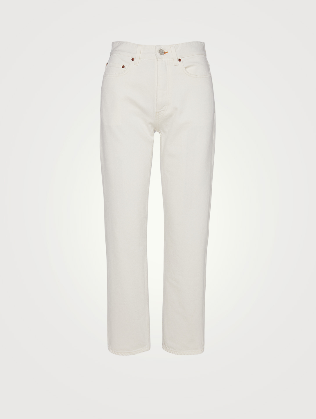 WON HUNDRED Pearl Organic Cotton High-Waisted Jeans Women's White