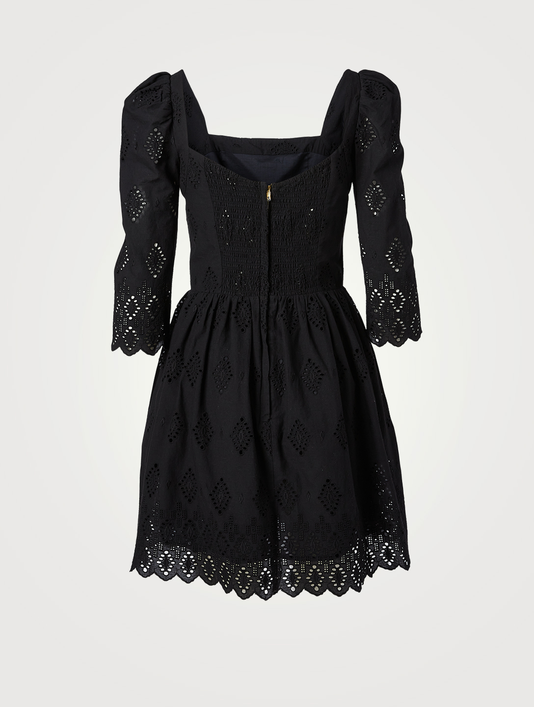 CARA CARA Hart Eyelet Mini Dress Women's Black
