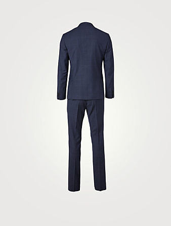PAUL SMITH Wool Slim-Fit Two-Piece Suit In Check Print Men's Blue