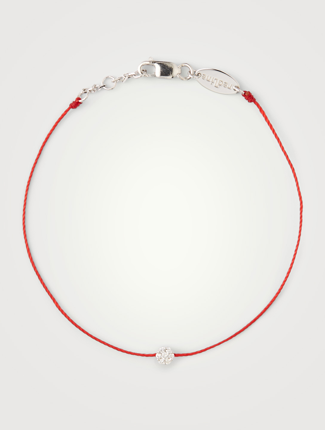 REDLINE Bracelet fil Illusion en or blanc 18 ct avec diamants Femmes Rouge