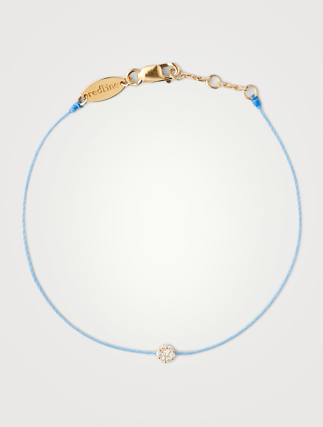 REDLINE Bracelet fil Illusion en or 18 ct avec diamants Femmes Bleu