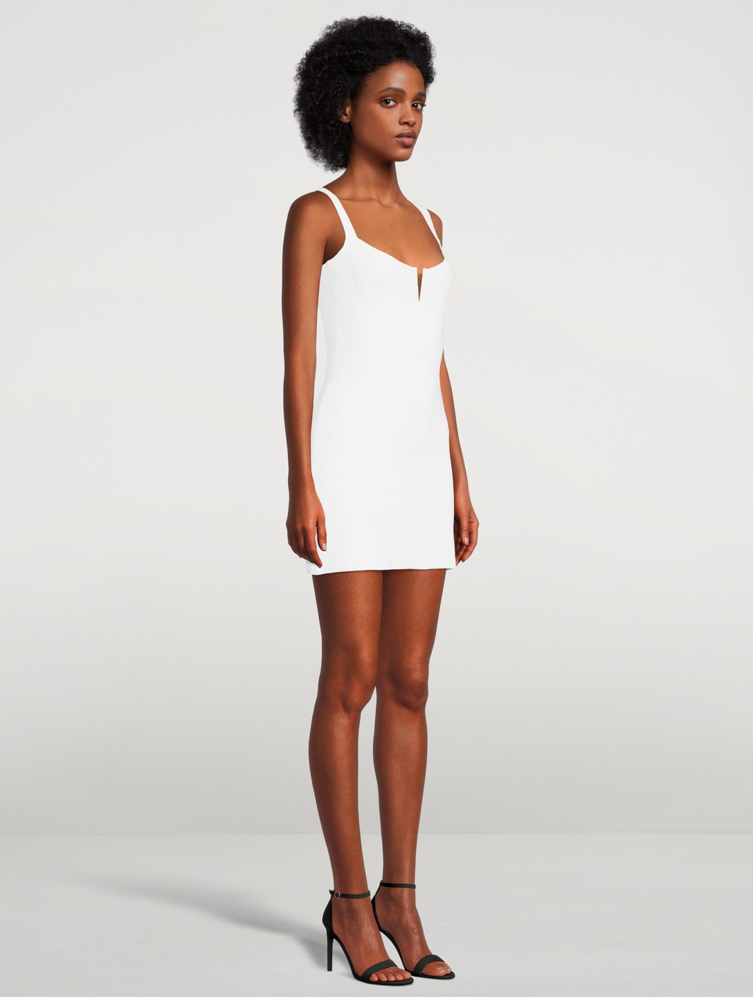 GAUGE81 Adeje Ribbed Mini Dress Women's White