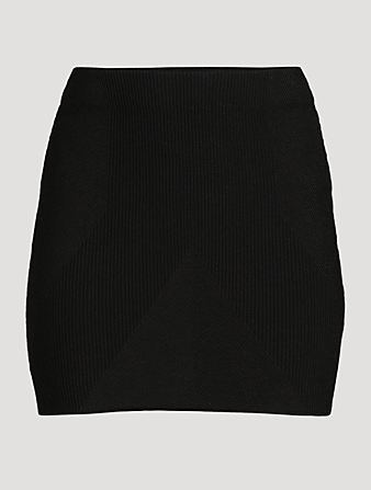 GAUGE81 Fasnia Ribbed High-Waisted Mini Skirt Women's Black
