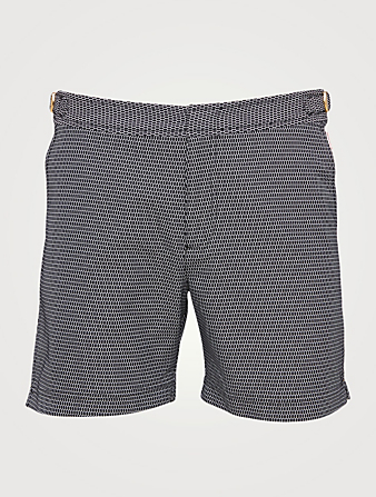 ORLEBAR BROWN Bulldog X Jacquard Swim Shorts Men's Black