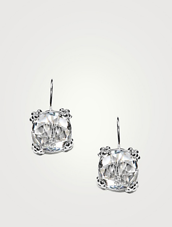 ANZIE Dewdrop Sterling Silver Cluster Earrings With Topaz Women's Metallic