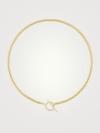 ELECTRIC PICKS Sawyer 14K Gold Plated Rope Chain Necklace Women's Metallic