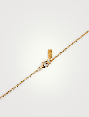 ELECTRIC PICKS Tudor 14K Gold-Filled Pendant Necklace With D Letter Women's Metallic