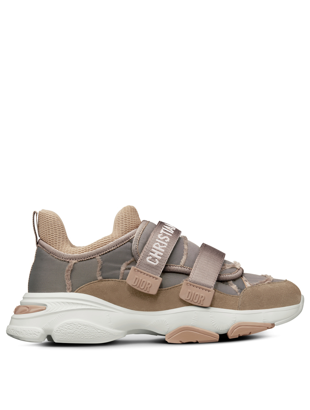 DIOR D-Wander Camouflage Nylon Sneakers Women's Neutral