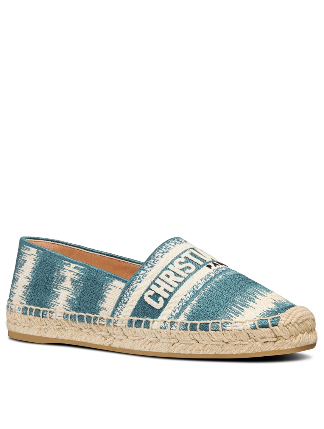 DIOR Granville D-Stripes Cotton Embroidery Espadrilles Women's Blue