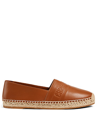 DIOR Granville Embossed Leather Espadrilles Women's Brown