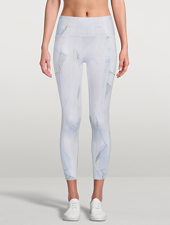 SWEATY BETTY Super Sculpt Zig Zag 7/8 High-Waisted Yoga Leggings Women's White