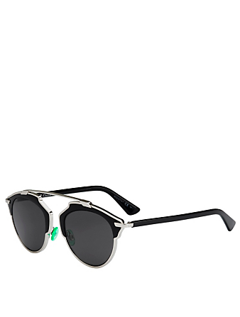 DIOR DiorSoReal Aviator Sunglasses Women's Black
