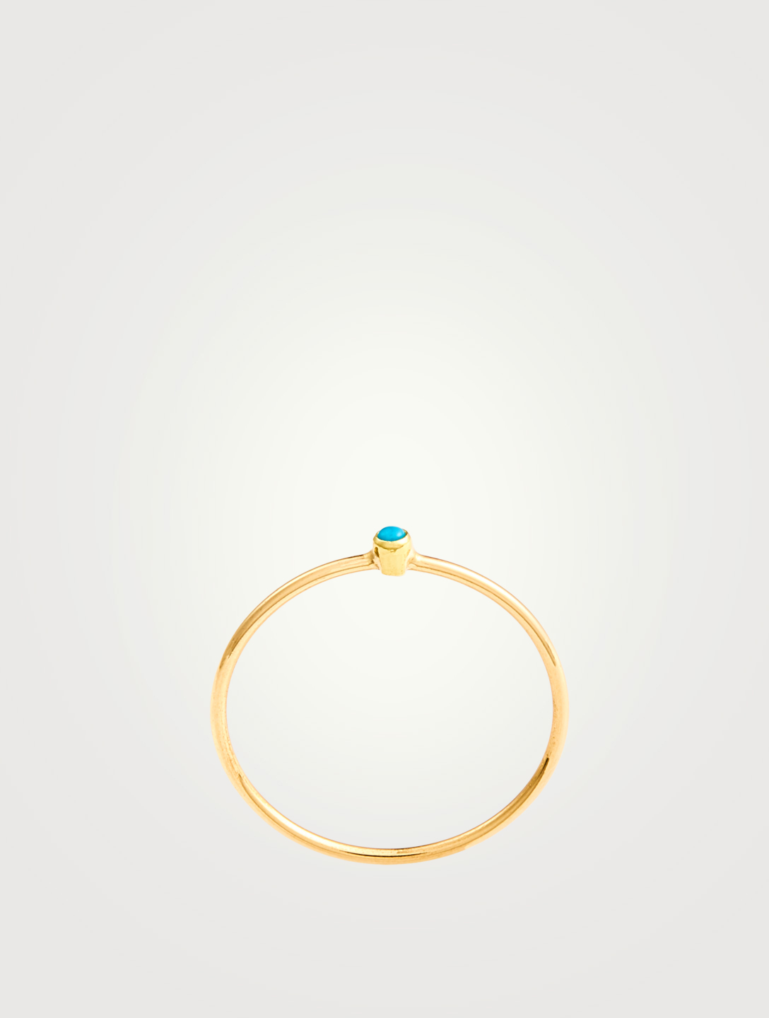 JENNIFER MEYER Gold Turquoise Thin Ring Women's Gold