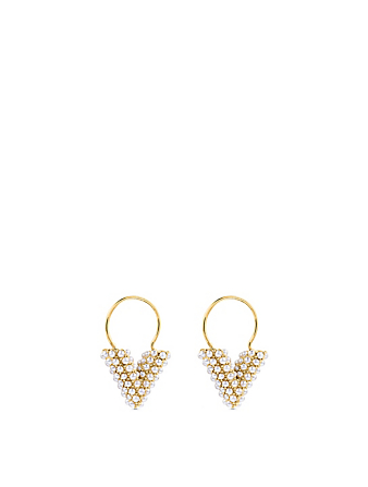 LOUIS VUITTON Essential V Perle Earrings Designers