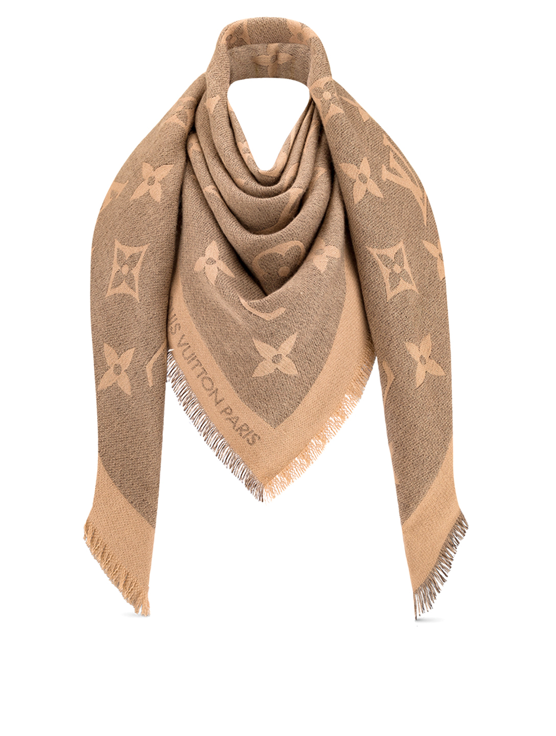 LOUIS VUITTON Monogram Giant Shawl Designers