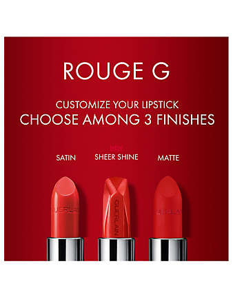 GUERLAIN Rouge G de Guerlain Stunning Gems Sheer Shine Lipstick Shade Beauty Neutral
