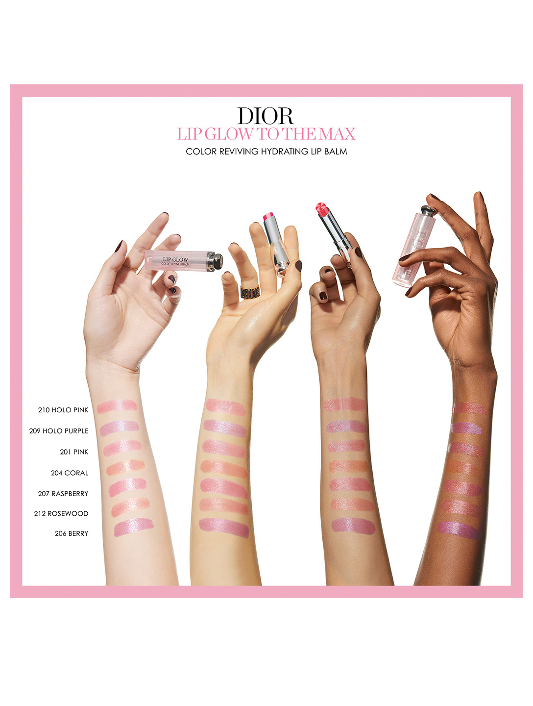 DIOR Dior Lip Glow To The Max Colour Reviver Lip Balm Beauty Pink